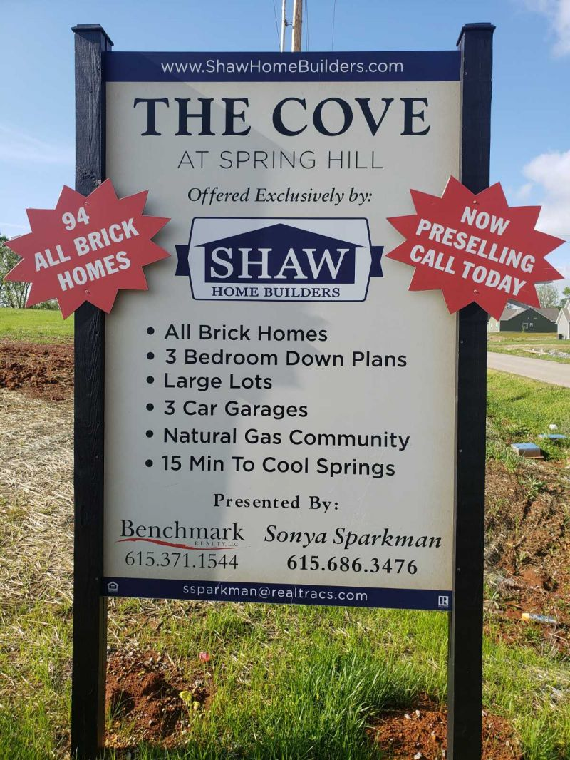 The Cove Sign